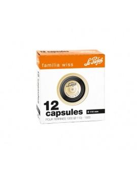 Capsules FAMILIA WISS 110mm - par 12 unités